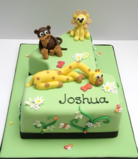 Jungle Number 1 Cake